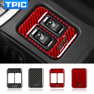 For Subaru BRZ Toyota 86 2013-2019 Car Modification Carbon Fiber Seat Heating Button Car stickers and decals TRD STI Trim Cover(China)