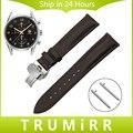 Primeira camada de couro genuíno faixa de relógio de liberação rápida para tag heuer carrera butterfly buckle strap correia de pulso pulseira 20mm 22mm