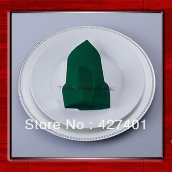 High Quality 50x50cm Hunter Green Polyester Plain Napkin / Table Napkin / Hotel Napkin / Dinner Napkin  (Factory Direct Sale)