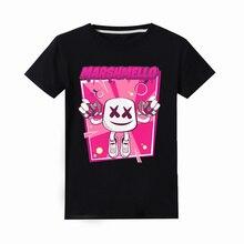 2019 летние футболки с короткими рукавами для маленьких мальчиков и девочек, повседневные топы, футболки Marshmello Marshmellow, футболки с 3D принтом, детская одежда