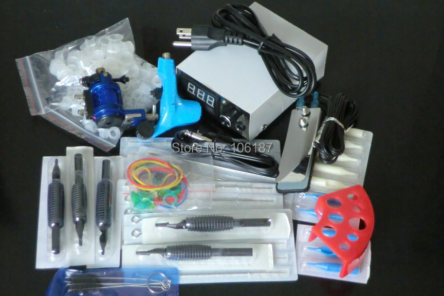 Professional Tattoo Kit 2 Pro Rotary Tattoo Machine Gun Power Supply Needles Grip Tip ink Cup For Tattoo Kit Beginner itatoo tattoo kit cheap beginner coil tattoo machine set kit tattoo ink rotary machine 2 gun liner supply professional tk1000005 page 4