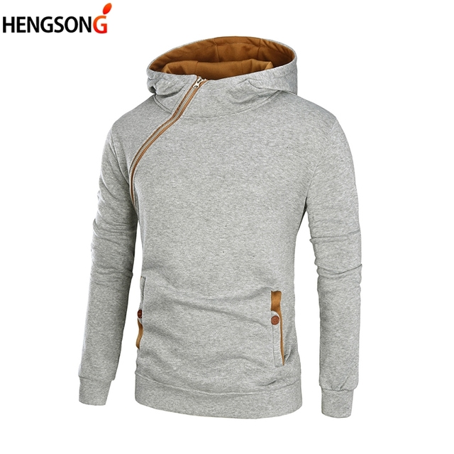 d5911ae5374ed Plus Size 3XL 2018 New Men Hoodies Color Block Sweatshirt Male Hooded  Sweatshirt Casual Pullovers Tracksuits Zipper Chic Design