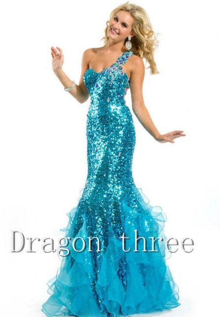 Rhinestone prom dresses 2017prom dresses mermaid style prom dress ...