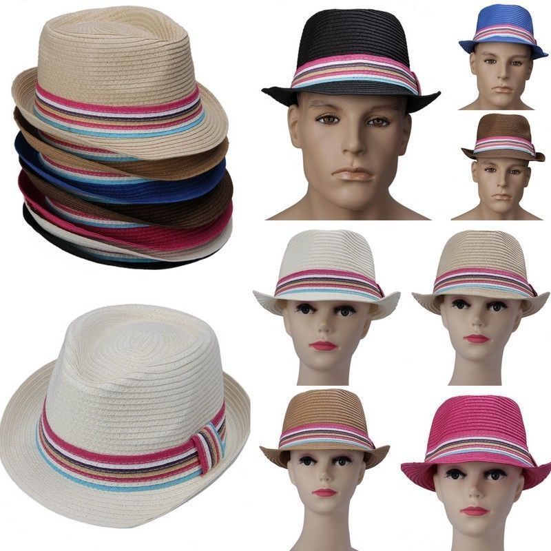 Colors Straw Hat Fedora Panama Trilby Crushable Summer Beach Sun Cap Mens  Ladies-in Sun Hats from Apparel Accessories on Aliexpress.com  0f5cad2e13a