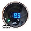 """Oferta especial Lente Humo Digital Logotipo Original 2 """"52mm de Aceite Del Coche Metro del Calibrador de Temperatura Con Sensor de Motor Paso A Paso"""