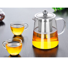 Heat Resistant Glass Teapot for Puer Tea Pot Tie Guanyin tea Black Home Office Coffee Kettle 400ml/550ml/750ml/900ml/1300ml
