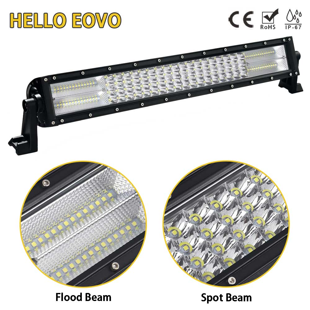 HELLO EOVO LED Bar 4 Rows 22 inch LED Light Bar for Work Indicators Driving Offroad Boat Car Tractor Truck 4x4 SUV ATV 12V 24v стоимость