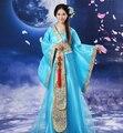 Nuevas Mujeres De Lujo de Cosplay Del Traje Ropa de Baile Princesa de Hadas juego de La Espiga Hanfu Reina Ropa Antigua China