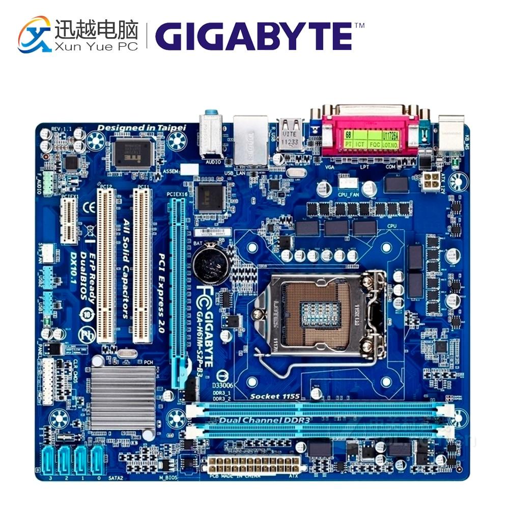 Gigabyte GA-H61M-S2P-B3 Desktop Motherboard H61M-S2P-B3 H61 LGA 1155 i3 i5 i7 DDR3 16G Micro-ATX h61m hgs vs4 vg4 vs3 motherboard 1155 set significant