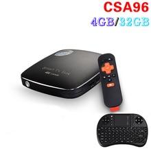лучшая цена Original RK3399 CSA96 4GB/32GB  Android 6.0 TV Box Mali-T860MP4 USB 3.0 64-bit CPU 4K Smart mini pc