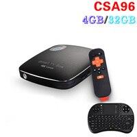 Original RK3399 CSA96 4GB/32GB Android 6.0 TV Box Mali-T860MP4 USB 3.0 64-bit CPU 4K Smart mini pc
