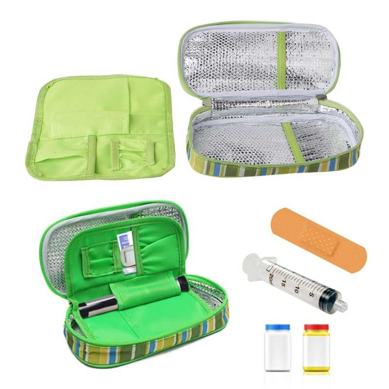 Portable Insulin Ice Cooler Bag Pen Case Pouch Diabetic Organizer Medical Travel