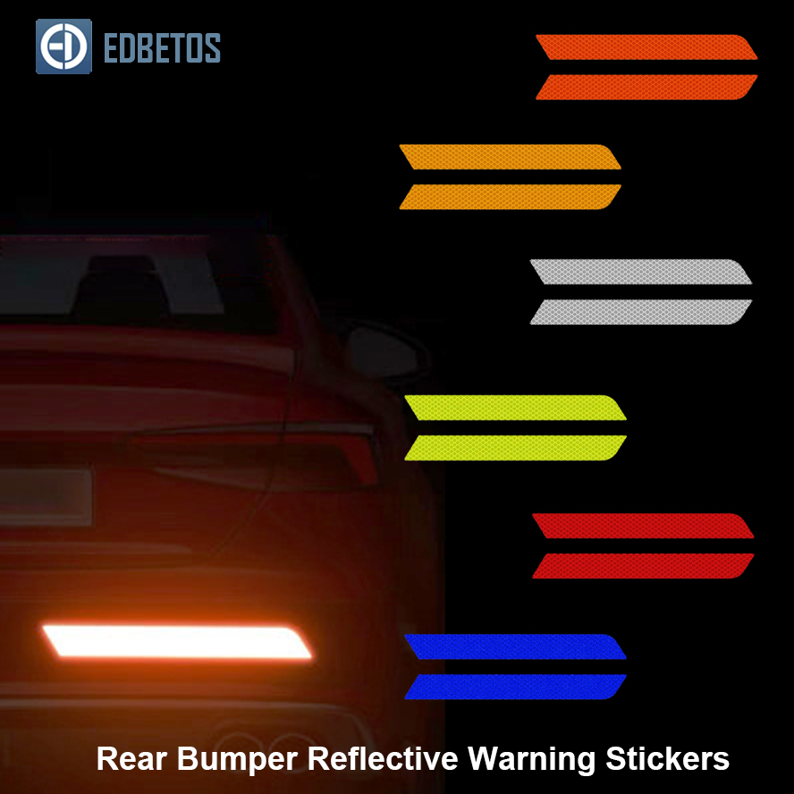 Image 3 - Car Body Safety Reflective Warning Stickers for Car Door Wheel Eyebrow Rear Bumper Review Mirror Helmet Decal Pegatinas Aksesuar-in Car Stickers from Automobiles & Motorcycles