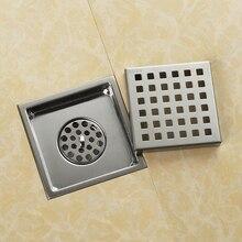 Высокое качество 304 прочной нержавеющей стали 150x150 мм квадратный анти-для вытяжки и сливного отверстия ванная пол для душа Слива- MD5470