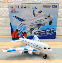Airbus A380 aircraft model Sound Light RC plane remote control shuttle airplane can't fly kids toys Children Gift DE325