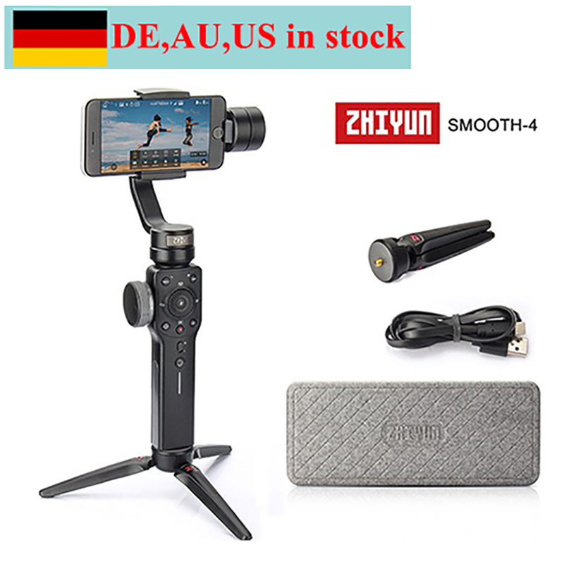 (can ship from Germany,AU,US) Zhiyun Smooth 4 3-Axis Handheld Gimbal Stabilizer for iPhone X 8 7 Plus 6 Samsung Galaxy S8+ S8 S7 hospital cleaner disinfectant towels 6 3 4 x 8 150 can 8 canisters carton
