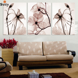 3 Panel Modern Wall canvas Painting Home Decorative Paint on Canvas Prints Blue flower enchanting Modular Picture no framed