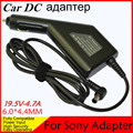 High quality DC Power Car Adapter Charger 19.5V 4.7A For Laptop Sony  6.0*4.4MM 90W Input DC11-15V max 10A Free shipping
