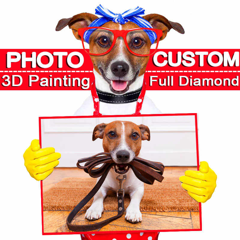 "NEW ""Photo custom"" 5D Private Custom DIY Diamond Embroidery! Full Square Diamond Painting Cross Stitch Mosaic Home Decor Gift"