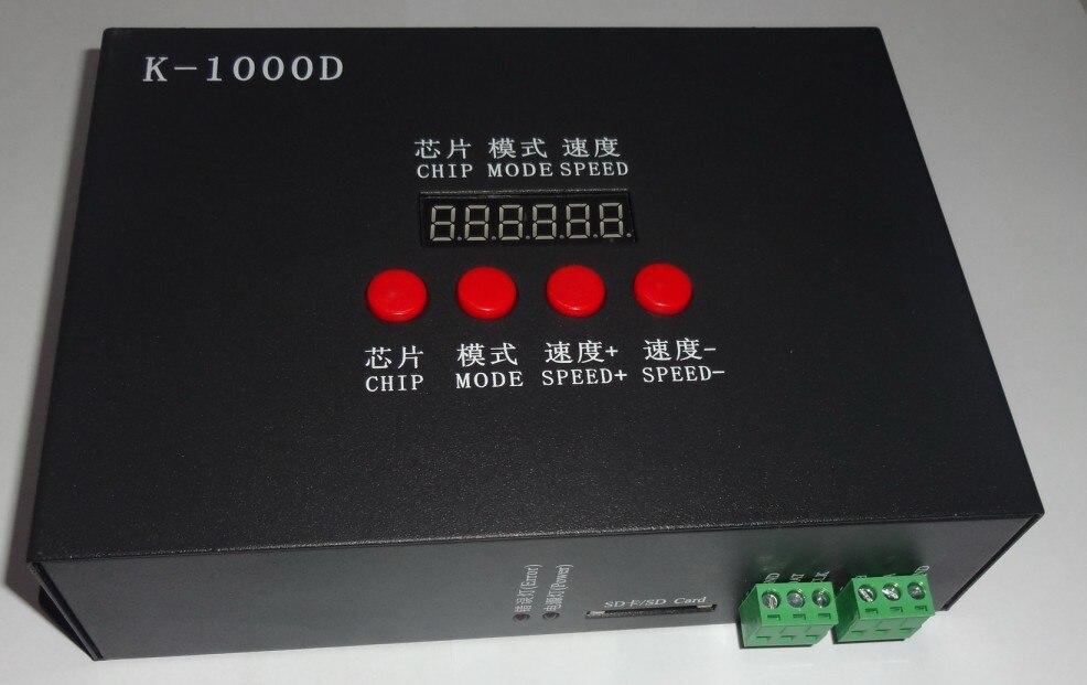K-1000D; DMX SD carte contrôleur de pixel; prise en charge de la norme dmx512 puce/DMX512AP-N/WS2821A; drive1024pixel; avec adresse écrivain fonction