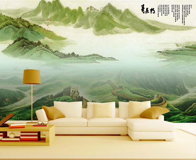 3D wallpaper custom mural non-woven wall paper sticker The Great Wall scenic landscape painting photo wallpaper for walls 3d custom baby wallpaper snow white and the seven dwarfs bedroom for the children s room mural backdrop stereoscopic 3d