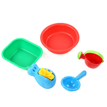 4pcs /lot Baby Bath Toy Set Plastic Watering Can Water Beach Sand Toys Gift For Children Classic toy