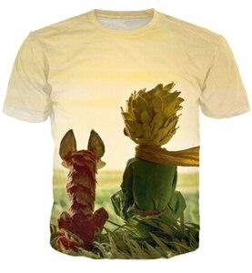 Футболка для женщин и мужчин, 3D футболка с О-образным вырезом и принтом в виде маленького принца
