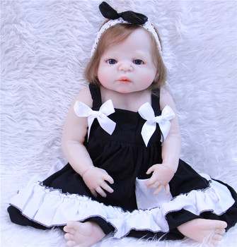 Fashion 22inch Doll Full silicone Body 55cm Silicone Reborn Baby Dolls Lifelike Newborn Baby Gift Juguetes Babies Toys for sale