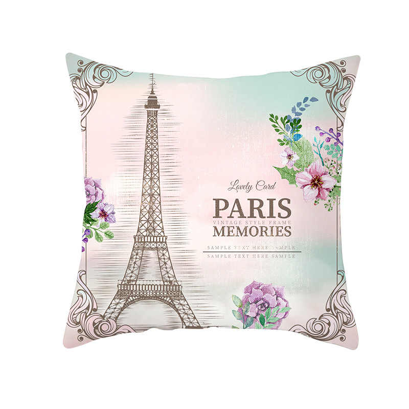 ノートルダム · ド · パリクッションカバーリネンスロー枕車の家の装飾装飾枕スロー枕
