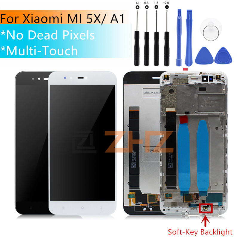 For Xiaomi Mi A1 LCD Display MIA1 Mi5X Mi 5X Touch Screen Digitizer With Frame Replacement Parts For Xiaomi Mi A1 LCD