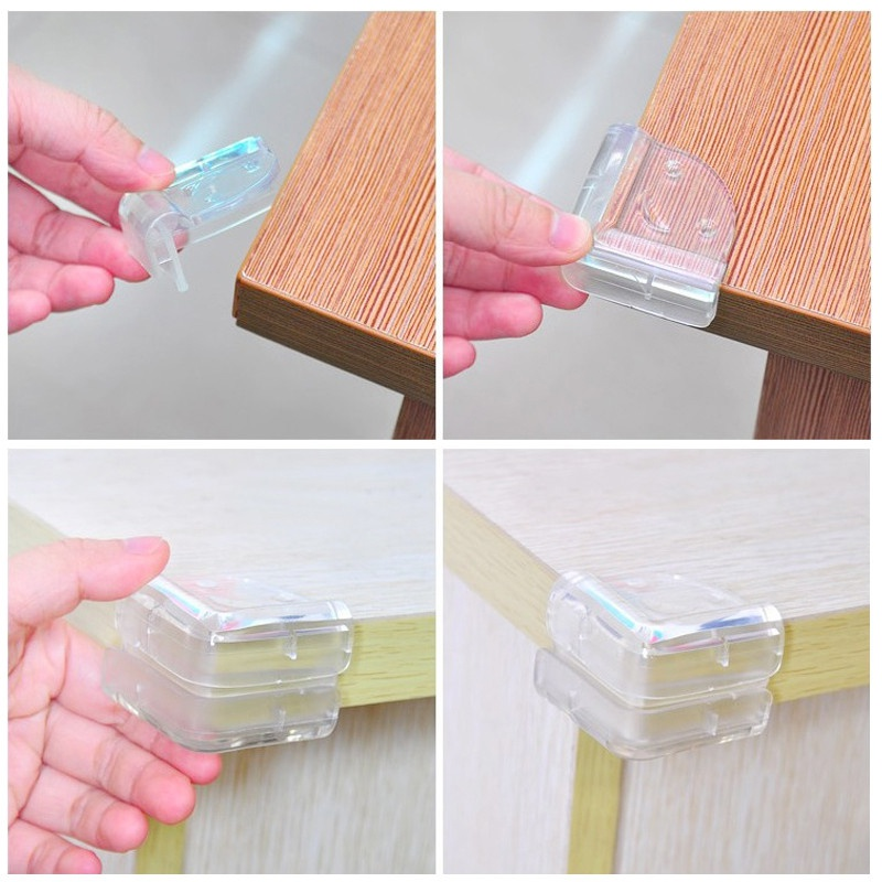 4pcs/lot Baby Safety Silicone Table Corner Protector Transparent Anti-Collision Ball Angle Protection Cover Child Security