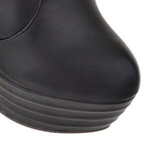 Image 5 - MORAZORAขนาด 33 46 2020 Slimเข่ารองเท้าผู้หญิงรองเท้าส้นสูงแพลตฟอร์มรองเท้าฤดูใบไม้ร่วงเซ็กซี่ต้นขาสูงรองเท้าหญิง