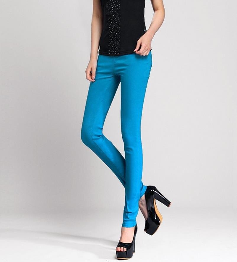 הנמכר ביותר! אופנה למתוח את הג ' ינס, חאקי, יין אדום, שחור, לבן, כחול שמיים, ורד אדום, אדום, ירוק צבא 7 צבעים