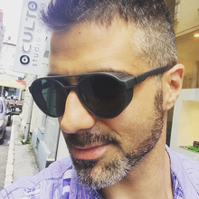 ALOZ MICC 2018 Men Steampunk Round Sunglasses Brand Designer Fashion Side Mesh Punk Style UV400 Q599