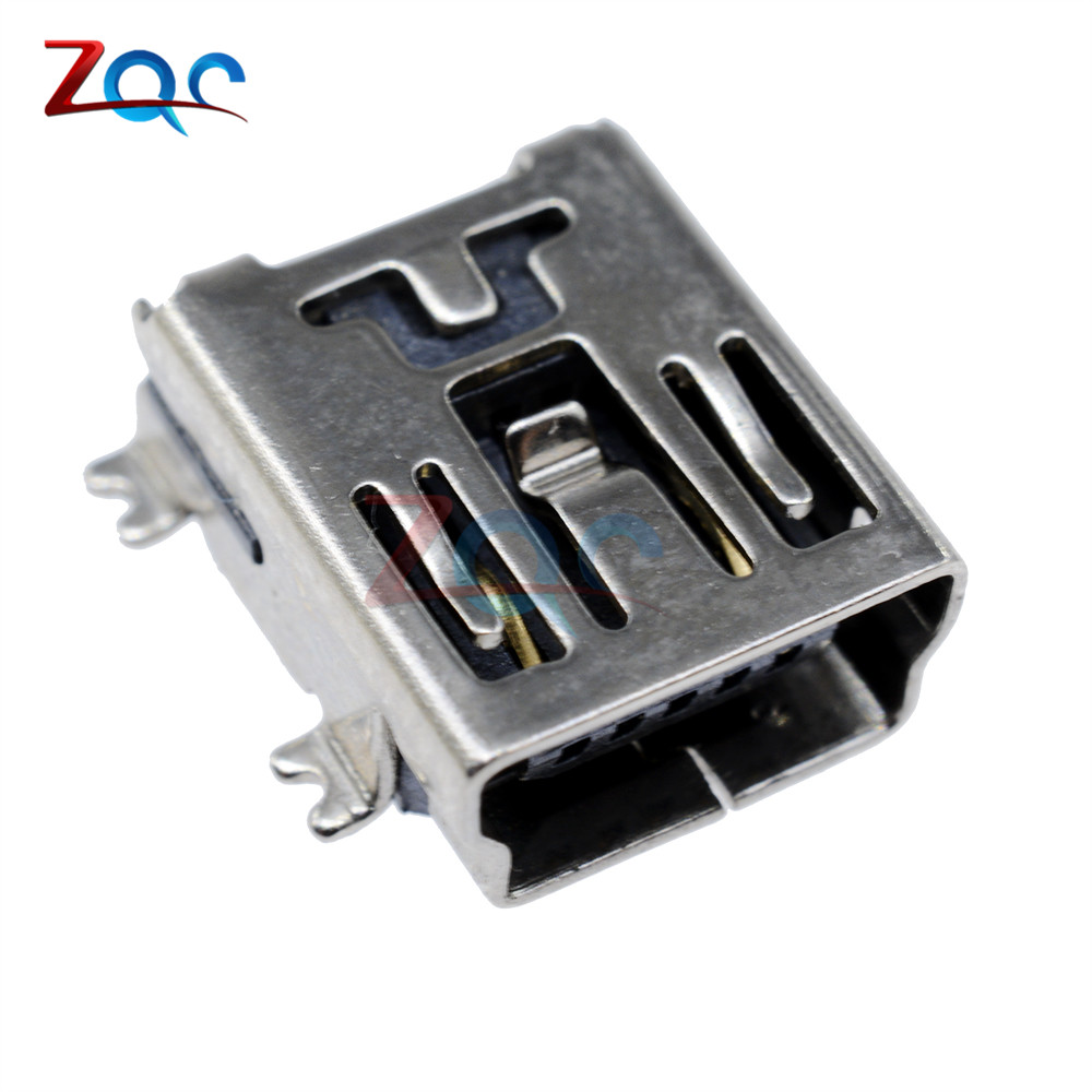 20PCS Mini USB SMD 5 Pin Female Mini B Socket Connector Plug