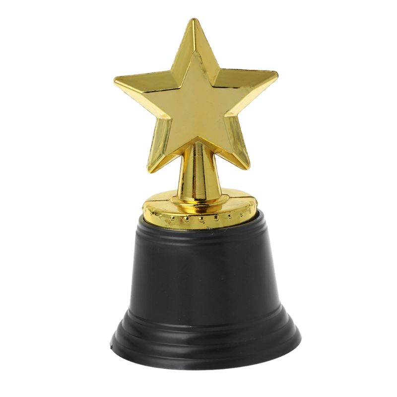12PCS Star Gold Award Trophies 4.5