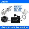 Lintratek 2 Г GSM Репитер 900 МГц Сотовый Усилитель Сигнала UMTS 900 МГц Мобильный Усилитель Мобильного Телефона Антенна Yagi Полный комплект F10