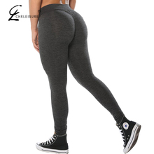 CHRLEISURE S XL 3 Colors Women Push Up Leggings Casual Workout Black Polyester Legging High Waist