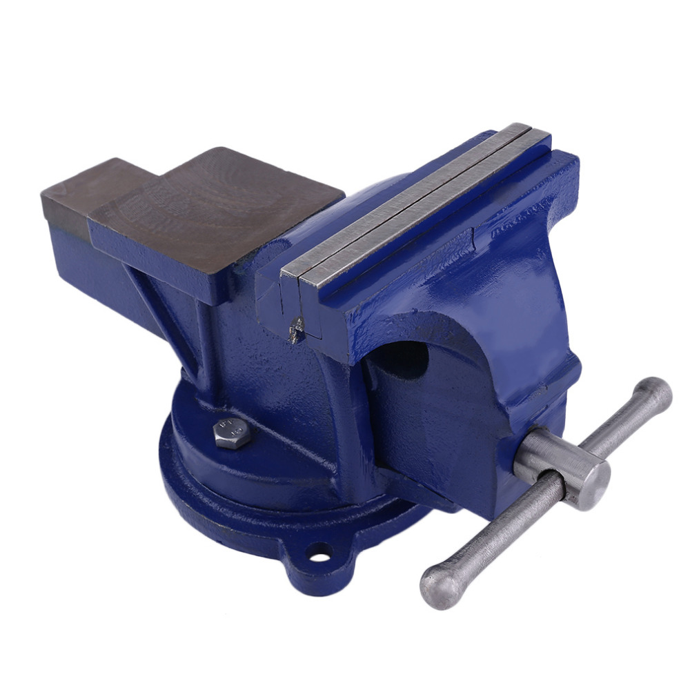 Newest Manual Bench Vice Bench Working Opening Parallel Table Vise DIY Sculpture Craft Repair Hardware Tool 150MM Blue goxawee mini table vice bench vise vice bench vise for diy jewelries craft mould fixed repair tool for dremel accessories