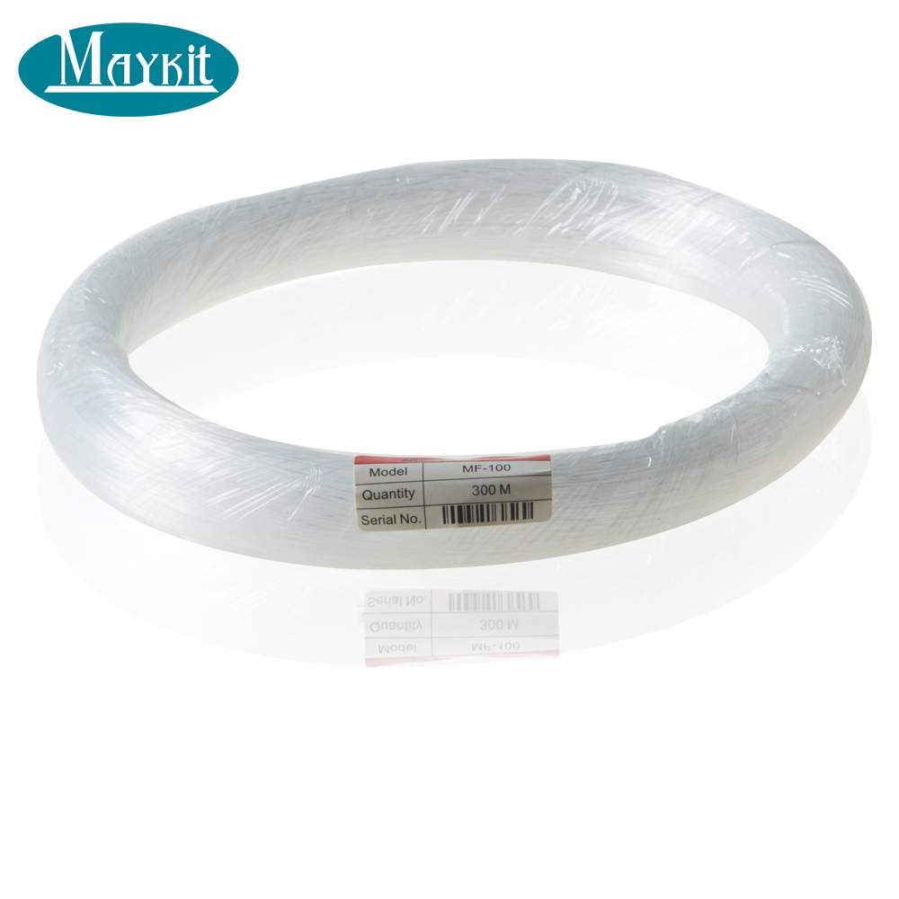Maykit 300m/roll 1.0mm Diameter Pmma End Glow Fiber Optic Cable for Fiber Optic Light side glow sparkle fiber optic light strands 1 0mm 1150meters for fiber optic curtain light and chandelier water fall effect