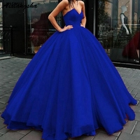 2019 Fashion Hot Ball Gown Tulle Prom Dresses Sweetheart Corset Blue Green Burgundy Red Evening Dress Lace Up