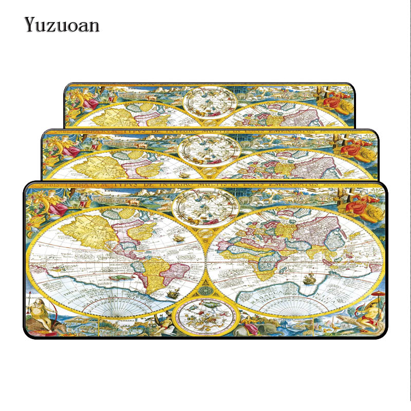 Yuzuoan Vintage Old World Map mouse pad Gift large pad to mouse notbook computer mousepad cool gaming mouse mats to mouse gamer