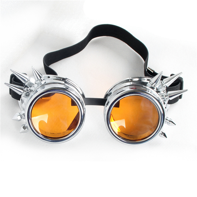 C.F.GOGGLE Men Women Steampunk Vintage Sun Glasses Kaleidoscope Spikes Sunglasses Gothic Goggles Vintage Retro Punk Sunglass