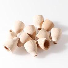 20 pçs/set Unfinished Natural Wood Craft Manual do Chapéu Mancha Pintura do Miúdo Bonecas Brinquedos de Madeira Artesanato DIY Festa de Casamento Decoração de Casa