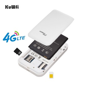 Image 4 - KuWFi 4G WIFI Router Sim Card Pocket LTE Router Mini Outdoor Routers Car Mobile Wifi Hotspot for hauwei Apple Xiaomi