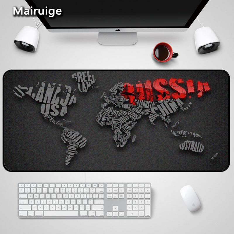 Mairuige The World Map Large 3Size 400X900X2/3/4MM Table Mats Mousepad Gaming Mouse Pad Rubber Anti skid Wear Mousemat Pc Mouse