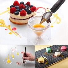 DIY chocolate de acero inoxidable cuchara DIY lápiz tuberías cucharas torta decoración pastelería herramientas accesorios de cocina gadget