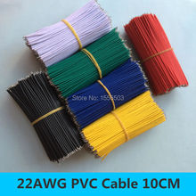 500pcs wire electronic insulated stud tinned galvanized color wire 22AWG 10CM cable jump wire connector for arduino led lighting