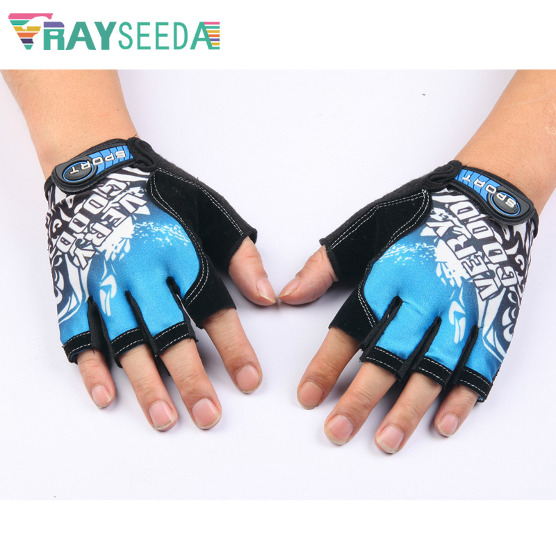 Rayseeda Half Finger Weight Lifting Gym Fitness Sports Gloves Adjustable Cool Summer Running Riding Cycling Gloves For Men Women