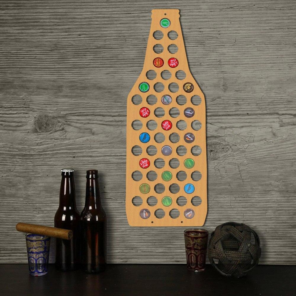1 Pièce Affichage Carte Bière Bouchon de la Bouteille Carte Unique Design Bière Bouteille Forme Bière Cap Carte Collection Décorer Mur